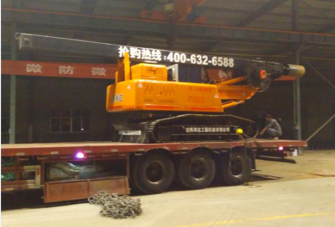山东滕州小型旋挖机装车图片