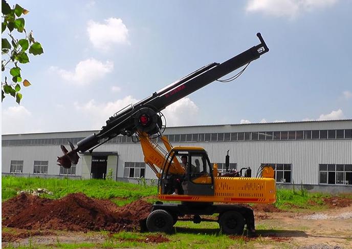 以下图片是360度轮式滕州旋挖钻机:价格19.8-21.8万