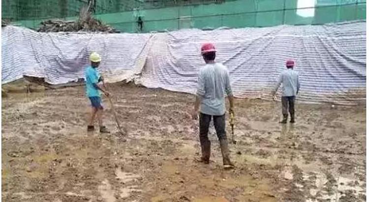 建筑工地的生活